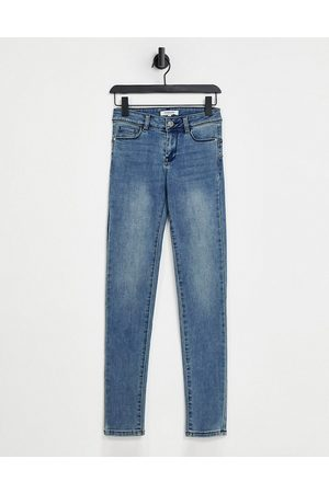 Morgan Low rise skinny jeans in off blue