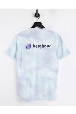 Berghaus Heritage Front and Back logo t-shirt in purple tie dye
