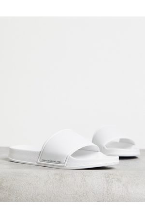 French Connection Sliders in white