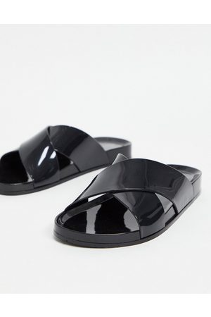 South Beach Jelly slides in solid black
