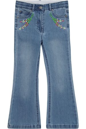 Stella McCartney Embroidered flared jeans
