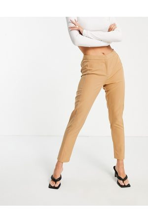 Unique 21 Tailored trousers in camel co-ord-Brown