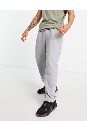 ASOS Organic super oversized joggers in grey marl with toggle hem