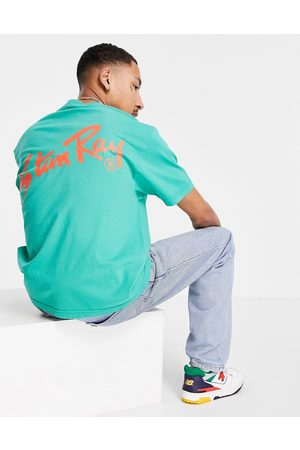 Stan Ray Original logo t-shirt with back print in green