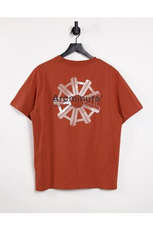 The Arcminute Arcminute logo t-shirt with back print in rust-Brown