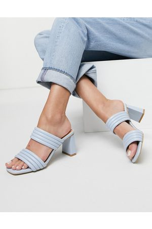 Glamorous Padded mules in pale blue