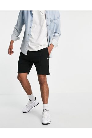Le Breve Jersey shorts with seam detail in black