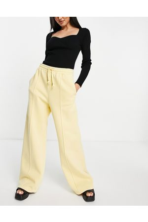 & OTHER STORIES Organic cotton co-ord wide leg joggers in yellow