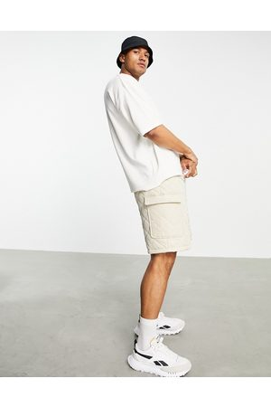ASOS Oversized t-shirt in off white towelling