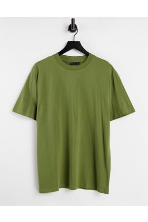 ASOS Organic relaxed fit t-shirt in washed khaki-Green