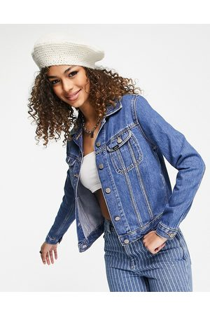 Lee Rider fitted denim jacket in mid stone wash-Blue