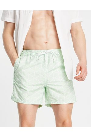 TOM TAILOR Swim shorts with print in mint green