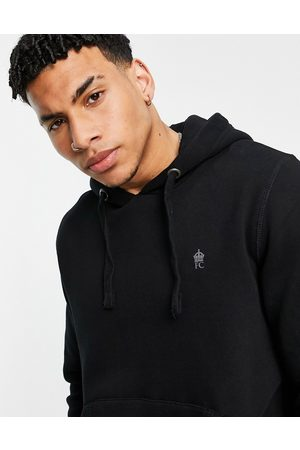 French Connection Overhead hoodie in black