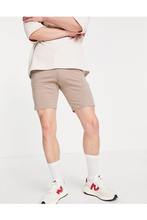 ASOS Co-ord skinny jersey shorts in brown
