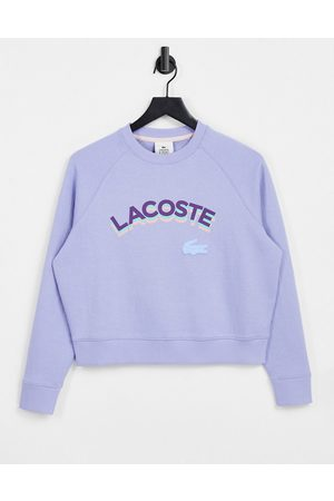 Lacoste Oversized sweatshirt with chest logo in blue