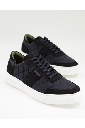 Barbour Liddesdale quilted trainers in black