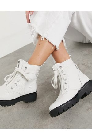 Ugg Daren chunky lace up boots in white