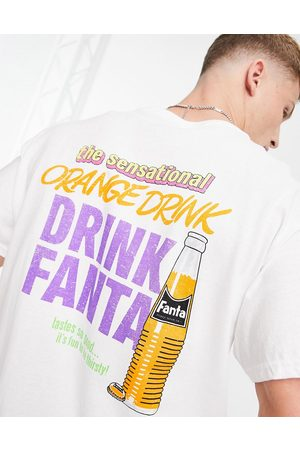 New Look Oversized t-shirt with fanta print in white