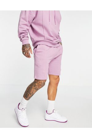 ASOS DESIGN Co-ord slim shorts with pin tuck in purple