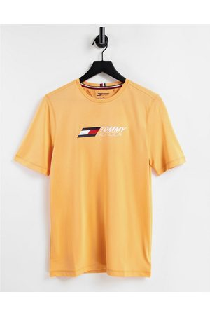 Tommy Hilfiger Performance t-shirt with chest logo in orange