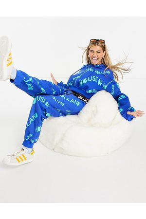 House Of Holland Logo print co-ord joggers in blue