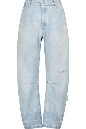 OFF-WHITE High-rise wide-leg jeans