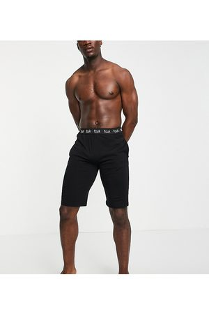 French Connection Tall FCUK shorts in black