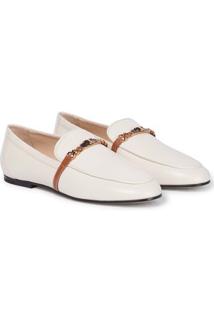 Tod's Catena chain leather loafers