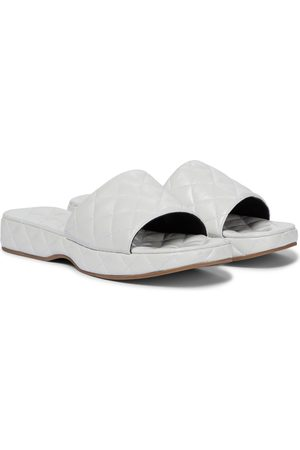 BY FAR Lilo quilted leather slides
