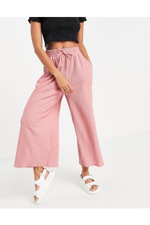 ASOS Linen look culotte trouser in blush-Pink