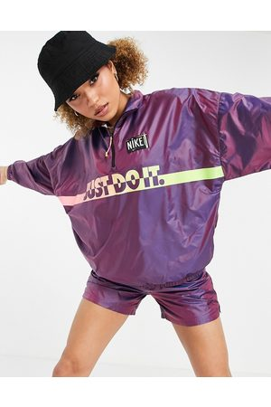 Nike Washed woven festival jacket in purple and pink ombre