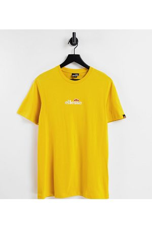 Ellesse Ellese small central logo t-shirt in yellow exclusive to ASOS