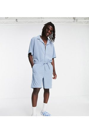 Reclaimed Inspired cord short co-ord in baby blue