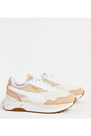 Puma Cruise Rider repeat cat trainers in oatmeal - exclusive to asos-Neutral