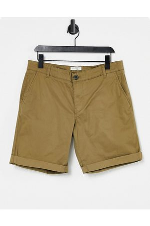 SELECTED Chino short in camel-Brown
