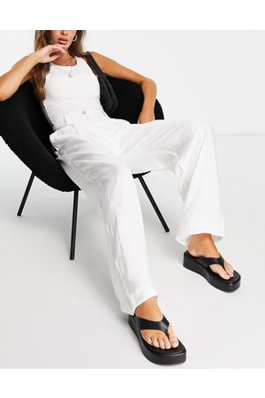 French Connection Lightweight tailored trouser co-ord in white