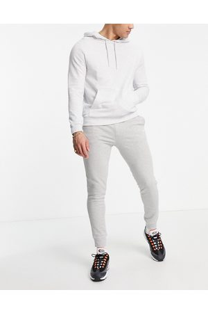 HUGO BOSS Skeevo joggers with small side logo in grey