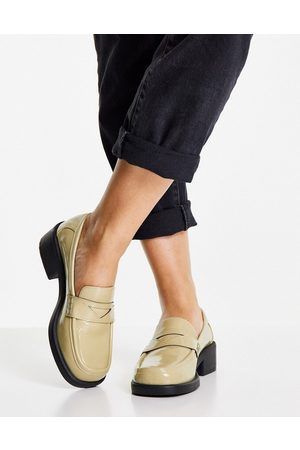 ASOS Melbourne 90's chunky loafers in green patent