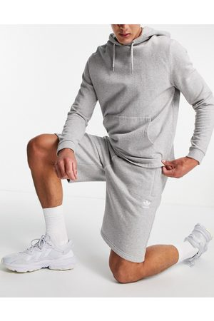 adidas Essentials shorts with small logo in grey