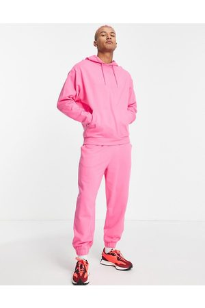 ASOS Organic tracksuit with oversized hoodie and oversized joggers in pink
