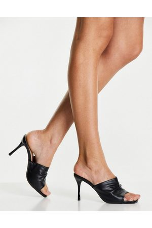New Look Thick strap heeled mule in black