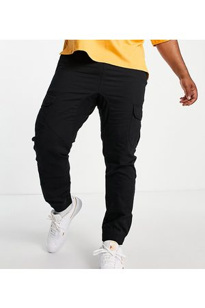 Another Influence Plus cargo trousers in black