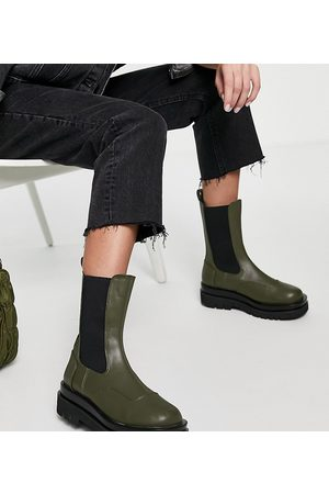 Z_Code_Z Wide Fit Kadın Botlar - Nora mid calf chunky chelsea boots in olive-Green