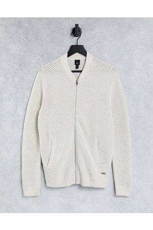 River Island Textured long sleeved bomber jacket in grey