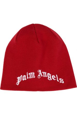 Palm Angels Kids Embroidered logo wool beanie