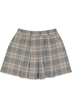 PAADE Checked cotton and cashmere skort