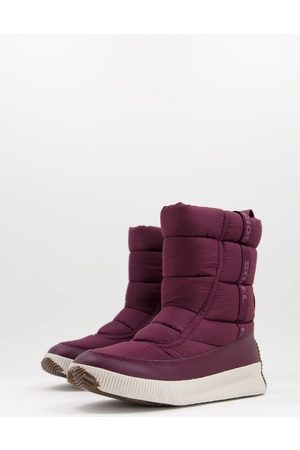 sorel Kadın Botlar - Out and about puffy mid boots in plum-Purple