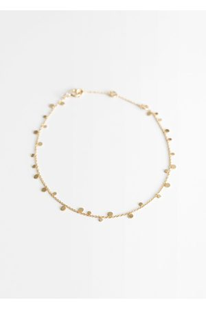 & OTHER STORIES Circle Pendant Chain Bracelet - Gold