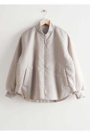 & OTHER STORIES Oversized Padded Bomber Jacket - Brown