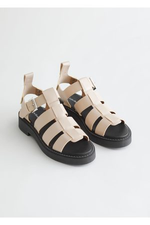 & OTHER STORIES Chunky Leather Gladiator Sandals - White